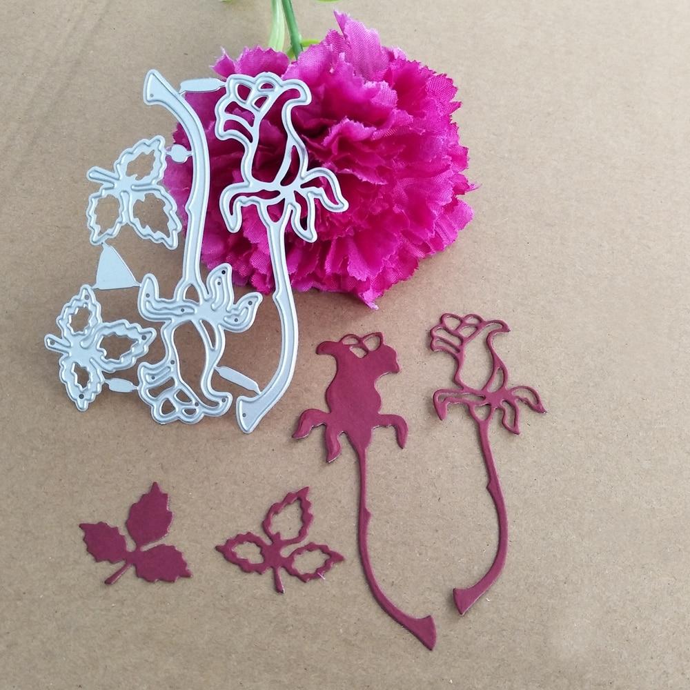 Flowers & Leaves Cuts Metal Die Cutting Dies Scrapbooking Embossing Folder Suit for Sizzix Fustella Big Shot Cutting Machine