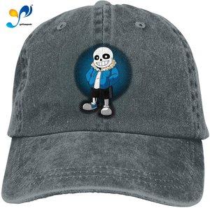 Undertale Retro Sports Denim Cap Adjustable Snapback Casquettes Unisex Plain Baseball Cowboy Hat Navy