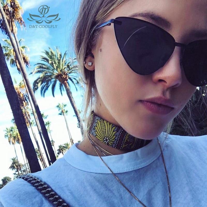 D & T 2020 nowy Retro gruba ramka okulary przeciwsłoneczne cat eye kobiety moda damska marka projektant lustro obiektyw Cateye okulary przeciwsłoneczne dla kobiet