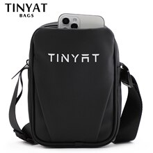 TINYAT Mini Bag Men Shoulder Bag Women Men Bag Small Leather Sling bag For Teenages Phone Bag Pouch