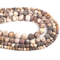 frosted australian zebra stone round beads 4 6 8 10 12mm new natural beads for jewelry making diy jewelry accessories