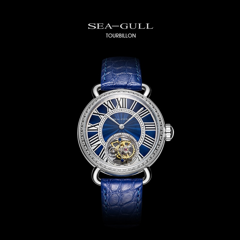 Seagull watch ladies tourbillon mechanical watch manual tourbillon hollow mechanical watch high-end Chinese watch 718.91.6034L enlarge