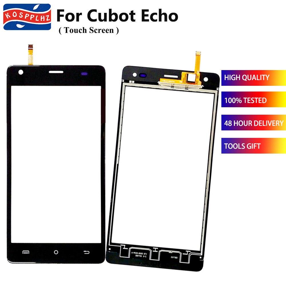 Painel de vidro frontal para cubot eco touch screen frente digitador vidro painel sensor preto branco substituir a tela com shpping livre