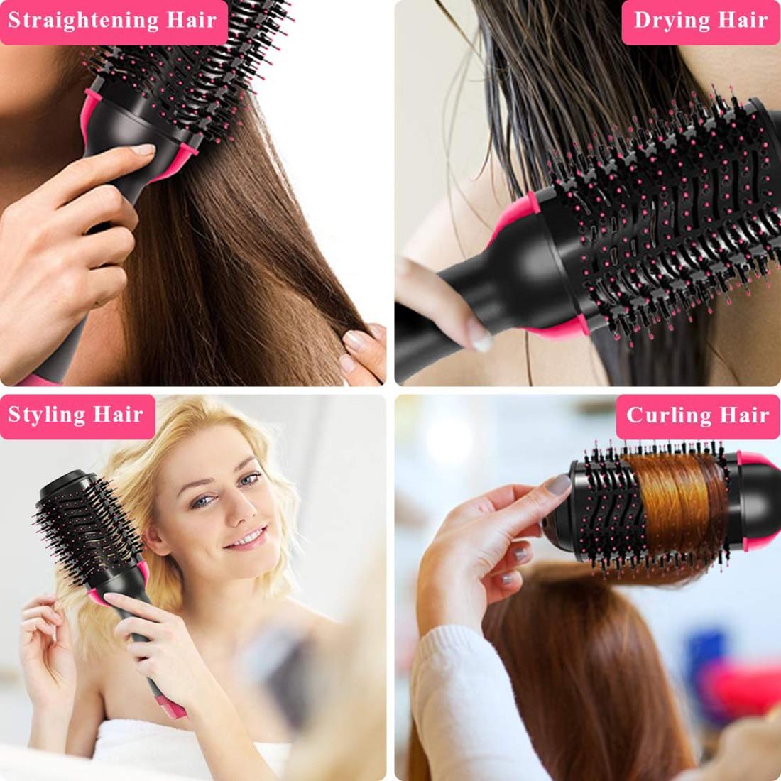 Professional Hair Dryer Volumizer Hot Air Dryer Machine Hair Blower Blowdryer Salon Equipment Comb Portable Hair Dryer Brush enlarge