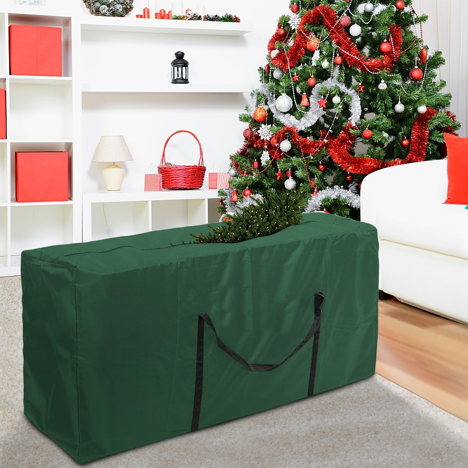 Christmas Tree Storage Bag Dustproof Cover Protect Waterproof Large-capacity Quilt Clothes Warehouse Storage Bags Organize tools
