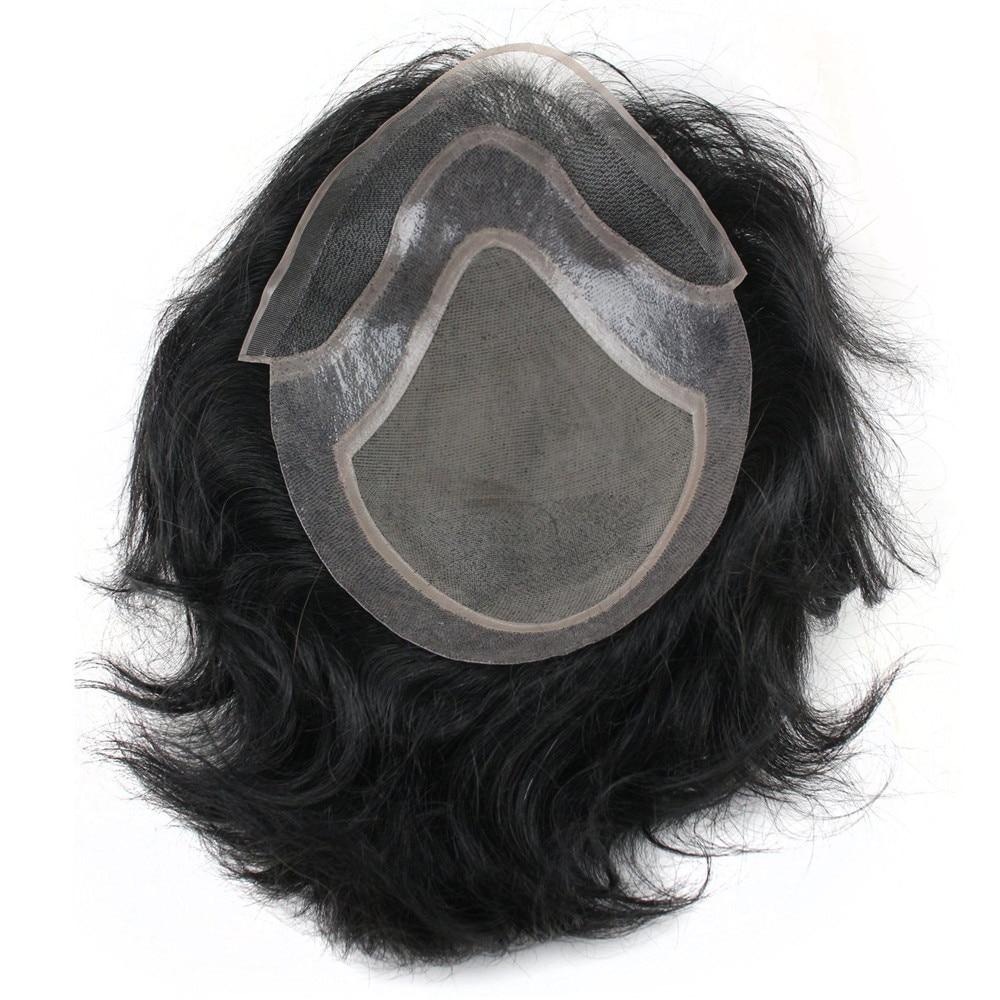 Eseewigs-باروكة شعر طبيعي متينة للرجال ، شعر مستعار ، استبدال الجلد الرقيق للغاية ، نظام شعر ريمي الطبيعي للذكور