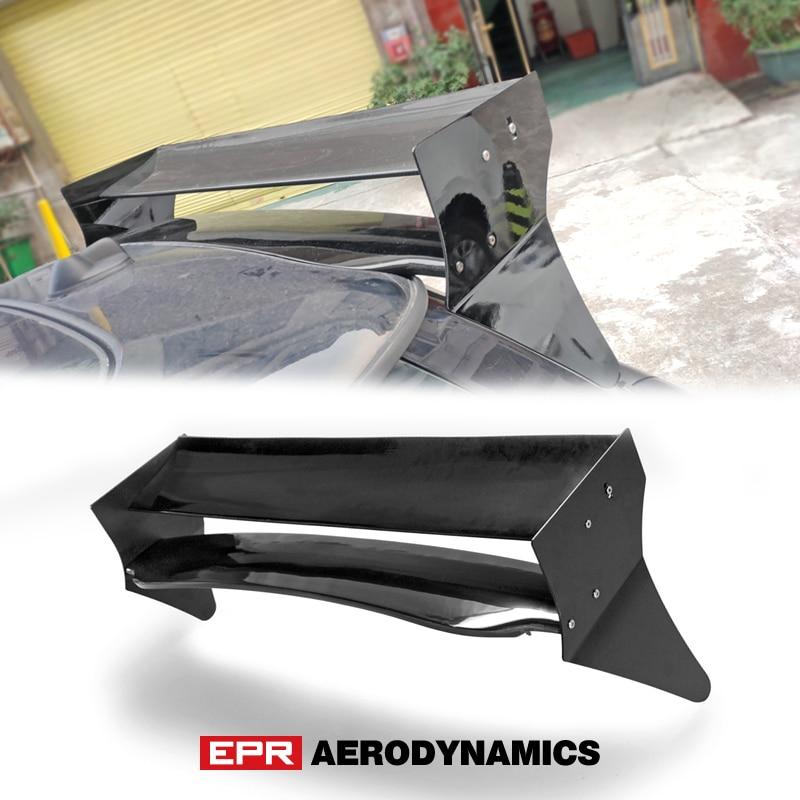 for Mini cooper S R56 M7 Style fiber glass unpainted rear trunk Roof Spoiler (Aluminmum end cap)