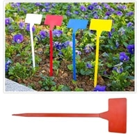 10pcs t type upturned marker plant gardening labels sorting sign tag plastic seedl nursery garden stick random color