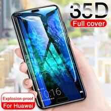 Vidrio Protector 35D para Huawei P20 Lite Pro P30 P10 Lite vidrio templado para Huawei Honor 9 Lite 10 V10 película protectora de pantalla