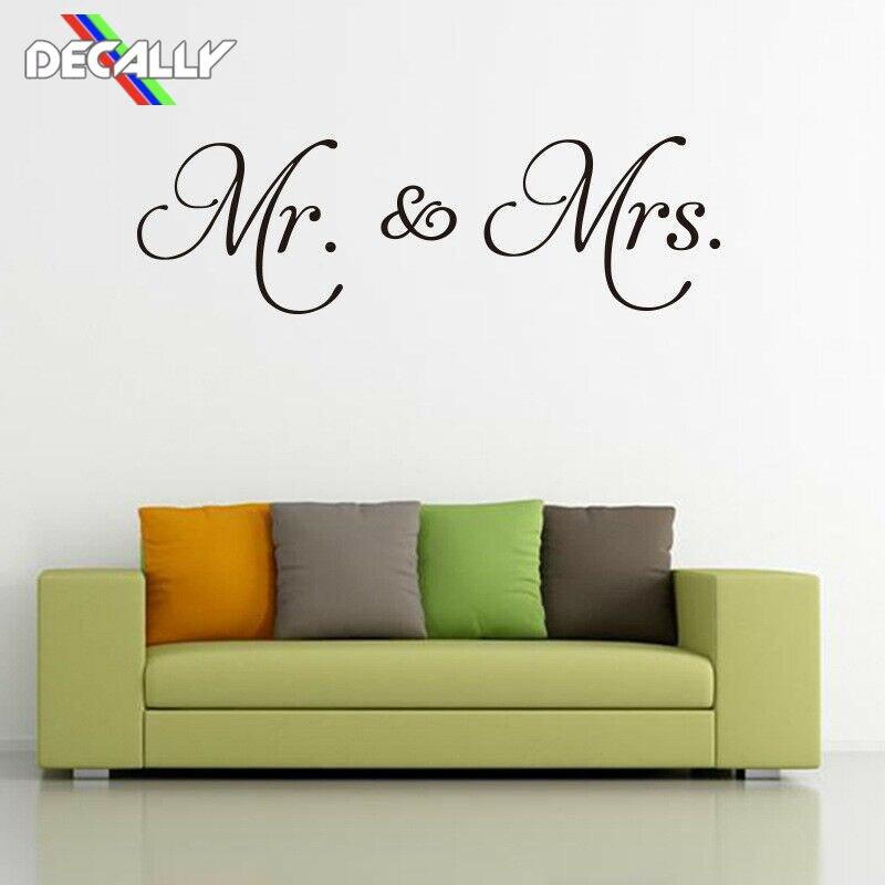 Decally Happy Weding Mr y Mrs pegatinas de pared para decoración de boda se pueden elegir todo tipo de tipos