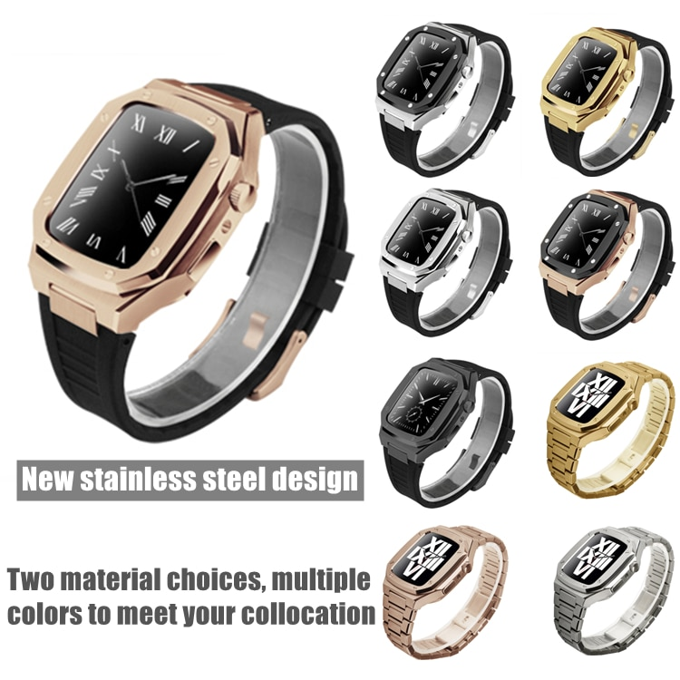 Latest Stainless Steel for Apple Watch Band 44mm 40mm Metal Strap for IWatch Series 6 SE 5 4 42mm 38mm Modification Noble Metal enlarge