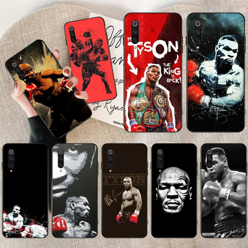 Funda de teléfono Boxer Mike Tyson para Xiaomi Mi10 10Pro 10 lite Mi9 9SE 8SE pocofone F1 Mi8 Lite