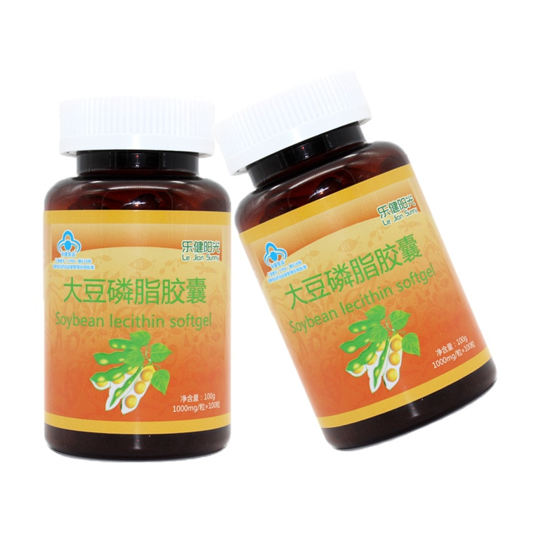 Soybean Lecithin Capsules People Health Care Products 100 Capsules OEM Generation 24 Months Cfda Oral