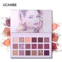18 colores de sombra de ojos de larga duración Maquillaje sombra de ojos maquillaje desértico Rosa sombra de ojos disco productos de belleza