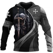 Tessffel chevalier templier armure Streetwear Harajuku pull NewFashion drôle 3DPrint Zip/sweats à capuche/sweats/veste/homme/femme A-9