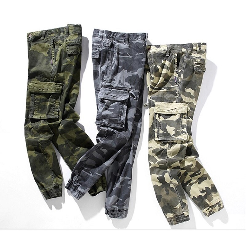 Traf Men's Cargo Pants Camo High Waist Man Pants Casual Fashion Trousers For Men Japanese Style Vintage Classic Men Trousers
