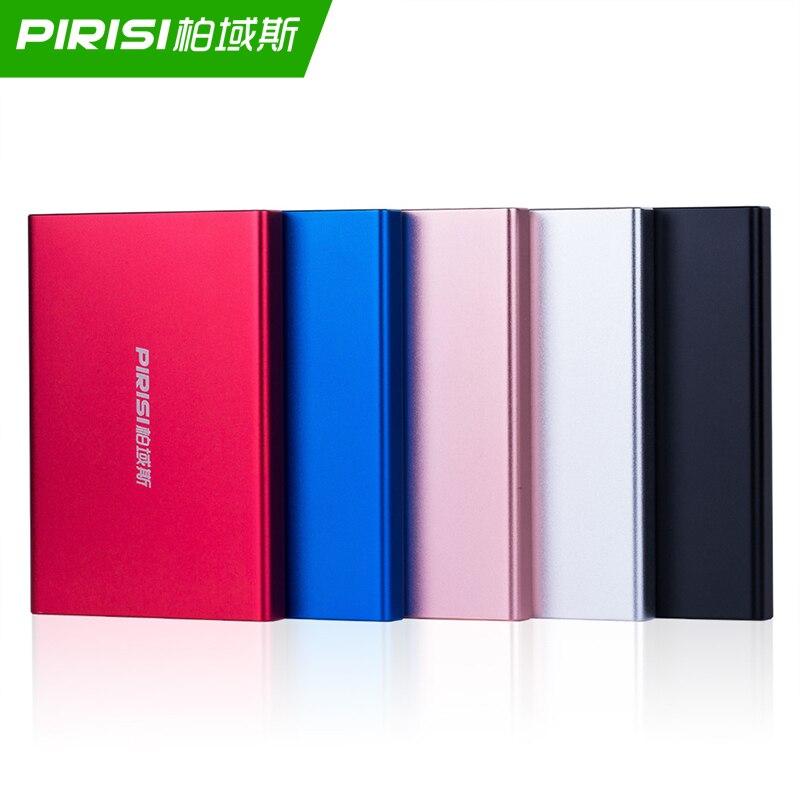 PIRISI Metal Slim Portable External Hard Drive Disco duro externo USB3.0 Disque dur externe for PC, Mac,Tablet, Xbox, PS4,TV box