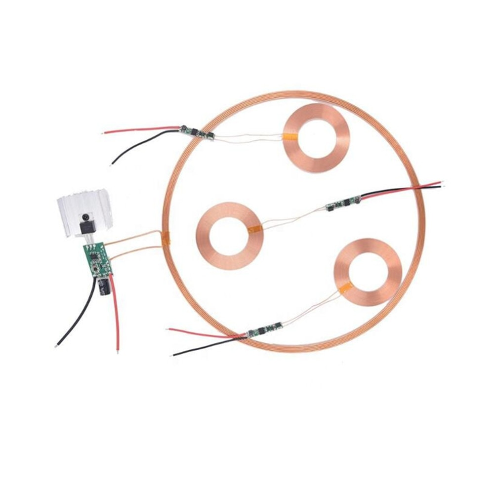 Taidacent 24V Long Distance Litz Wire Coil Induction Charging Inductive Charge Receiver Wireless Battery Charger Circuit Module недорого