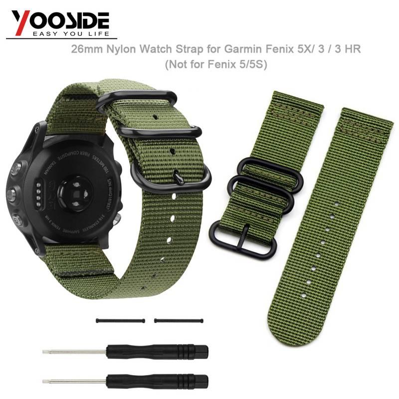 Спортивный ремешок для часов YOOSIDE Fenix 6X 26 мм, нейлоновый ремешок для часов NATO с винтовыми инструментами и наконечниками для Garmin Fenix 3/3 HR/Fenix 5X/5X Plus
