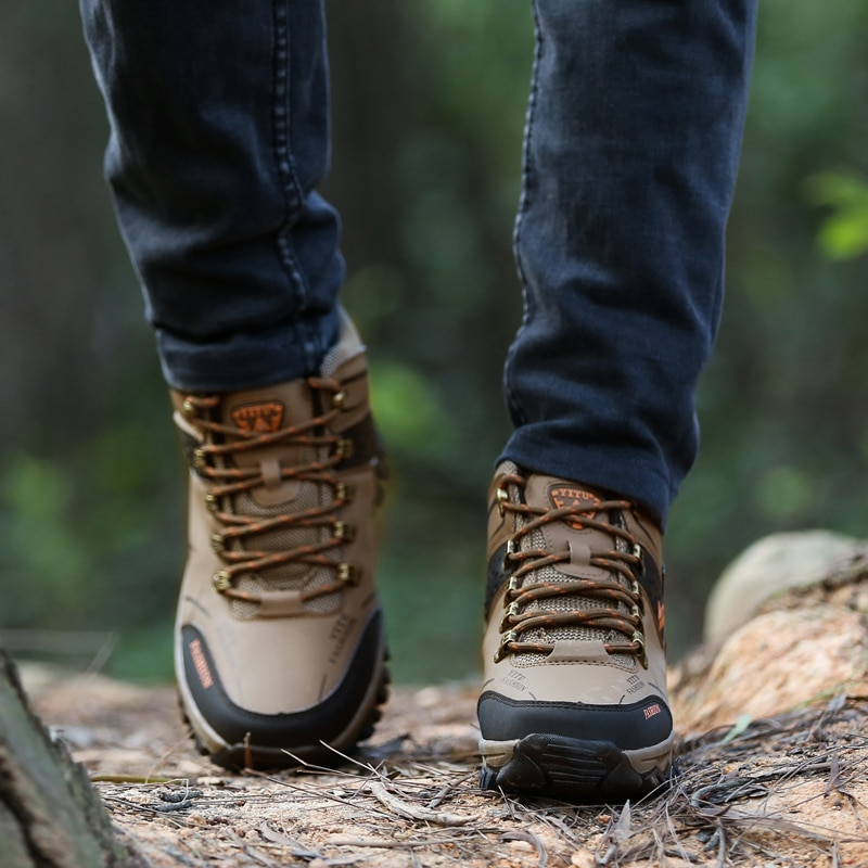 Winter Autumn Boots Climbing Shoes Outdor Trekking Mountain Sneakers 40-47 3Colors Mens Shoes Sports Shoes  Hunting Boots