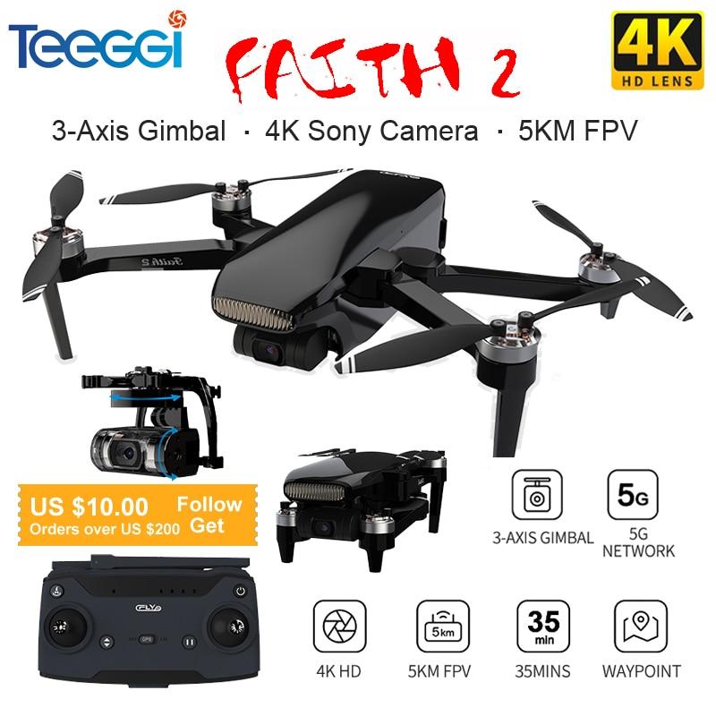 الإيمان 2 GPS Drone مع 4K HD كاميرا 3 محور Gimbal Quadcopter Dron المهنية 35 دقيقة الطيران RC 5000M VS SG906 PRO2 F11 4K برو