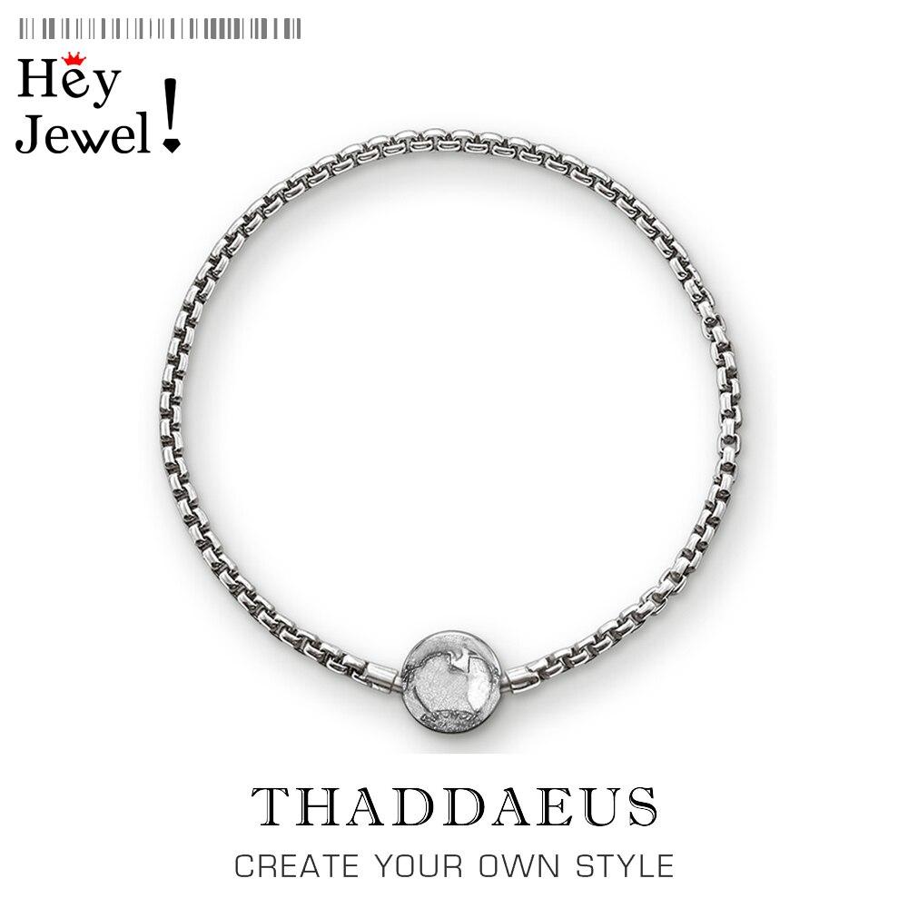 Pulseras negras Karma rueda de cadena de enlace de plata esterlina 925 joyería de moda para Mujeres Hombres regalo de moda con estilo Thomas cuentas