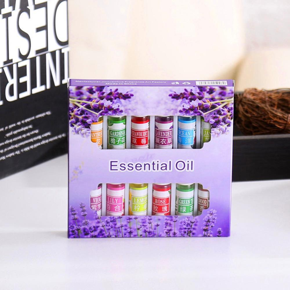 12 Set Essential Oil For Diffuser Aromatherapy Oil Humidifier Six Kinds Of Flavor 5ML Fragrance Arom