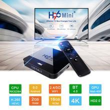 H96 4K HDTV BOX 1080P Android TV Box RK3328A Android 9.0 décodeur intelligent RK3328A Quad core lecteur multimédia Support 3D HDMI IPTV