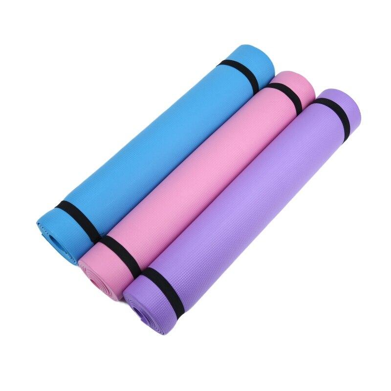 Colchoneta de espuma de Yoga gruesa de 4MM útil para hacer ejercicio, Yoga y Pilates