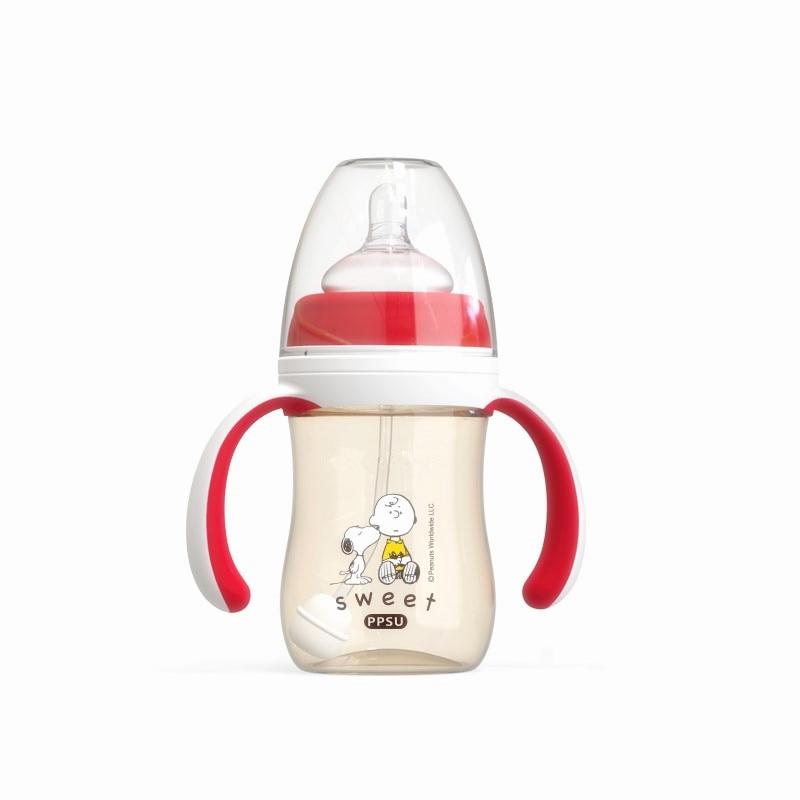 Bottle for Baby Ursing Feeding Bottle for Infant Kids Baby Bottle Handle Wide-Caliber Multifunctional BPA Free Baby Care