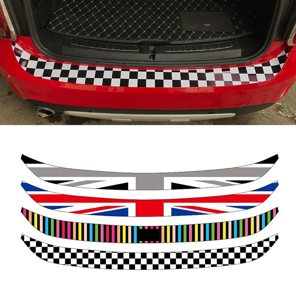 Автомобильный Стайлинг Юнион Джек украшение заднего бампера наклейка для багажника защита от нагрузки края наклейка для Mini Cooper R55 R56 R60 F55 F56
