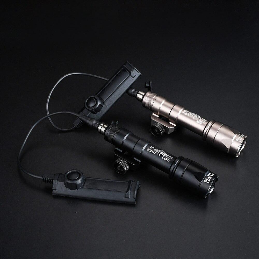 Linterna táctica WADSN Softair Scout M600C con interruptor de cinta de doble función M600 Airsoft antorchas armas ScoutLights
