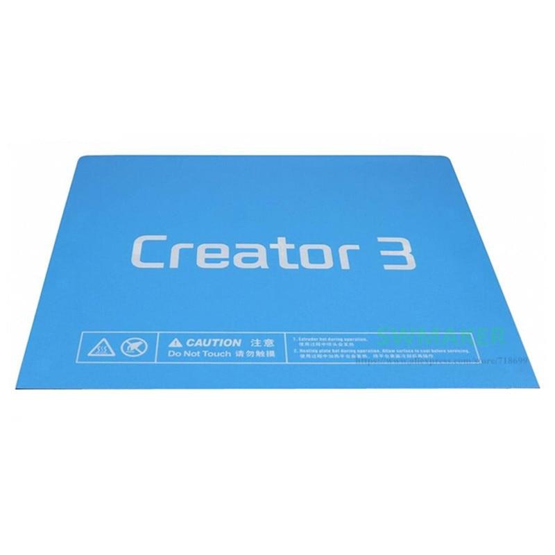 5 قطعة الأزرق بناء سطح الشريط طباعة ملصق ل Flashforge الخالق 3 3D طابعة بناء لوحة أجزاء