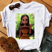 woman t shirts kawaii black girl cow print clothing graphic tee goth afraican americans t shirt tops women 2021 clothes harajuku