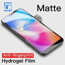 No Fingerprint Matte Hydrogel Film for Xiaomi Note 10 Pro Mix 4 3 Screen Protector for Redmi K30 5 plus 6 pro Safety Film Case