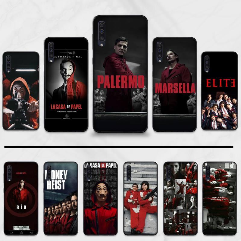 Casa de papel España TV dinero Heist TPU suave teléfono cubierta para Samsung A20 A30 30s A40 A7 2018 J2 J7 prime J4 Plus S5 Note 9 10 Plus