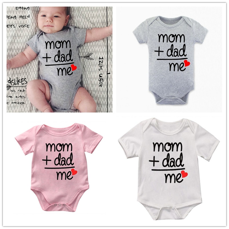 Комбинезоны для новорожденных мальчиков и девочек, Комбинезоны для мамы и папы, Забавные милые Боди для малышей, наряды, 2019