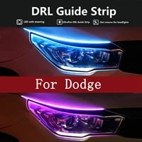 2pcs led drl car daytime running light strip for dodge ram 1500 2500 3500 2003 2018 skoda superb octavia a7 a5 fabia rapid yeti