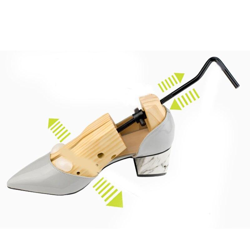 1 pc masculino feminino sapato de madeira maca ajustável 2-way profissional shaper sapato árvore alta qulality titular para bota sapato expansor