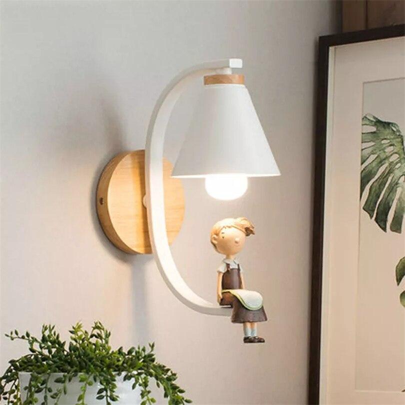 Nórdica lámparas de pared pájaro luz habitación pasillo dormitorio creativo de la pared Luminaria balcón cama lámpara de habitación led deco Luz