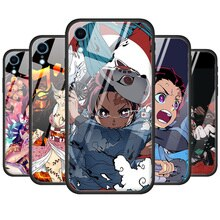 Dämon Slayer Kimetsu keine Yaiba Gehärtetem Glas Telefon Fall Für iPhone 11 11 Pro XR XS MAX X 7 8 6 6S Plus SE 2020 7 + 8 + Abdeckung Couqe