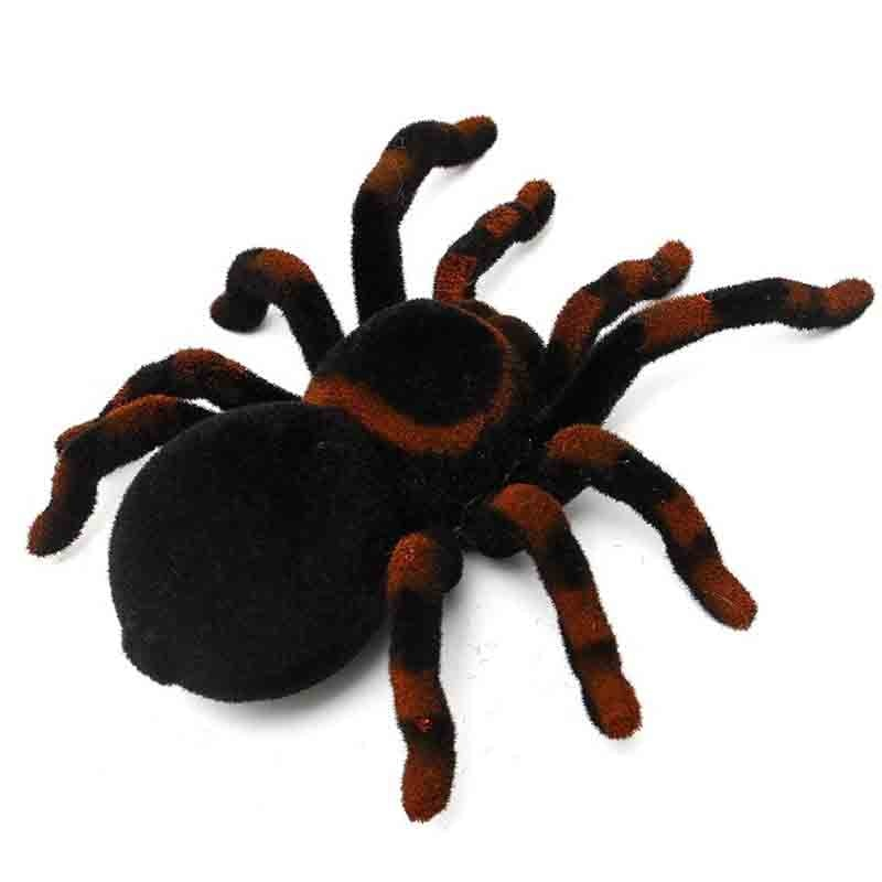 4-way Infrared RC Spider Eye Shine Halloween Simulation Scary Plush Creepy Tarantula Remote Control Tricky Scary Soft Prank Toys enlarge