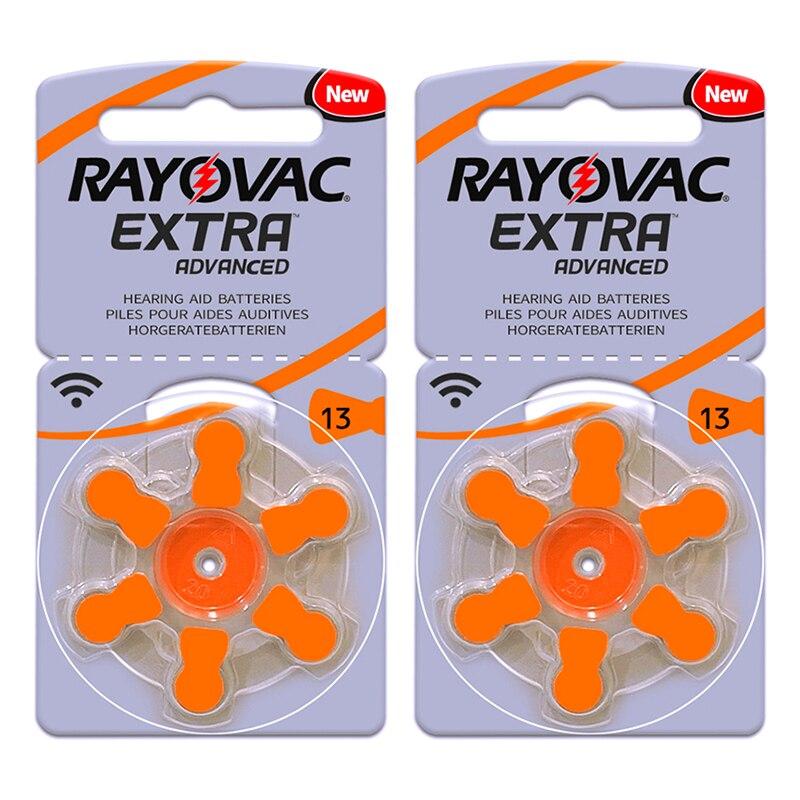 60x Hearing Aid Batteries 13 A13 13A S13 P13 PR48 Rayovac Extra Zinc Air Battery 1.45V  for BTE Hear