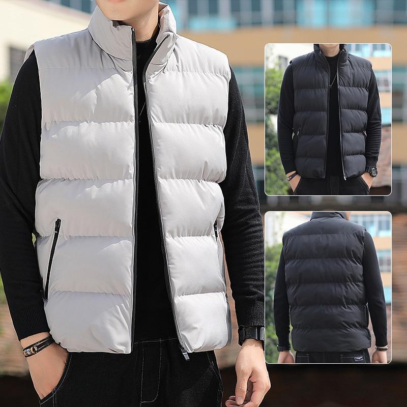 Мужской жилет ZOGAA, новая осенняя теплая куртка без рукавов, мужской зимний Повседневный жилет, жилет, женская одежда