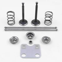 engine intake valve kit valve rod sealing push rod for honda gx160 gx200 valve oil seal spring kit assembly valves repair parts