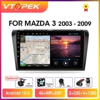 vtopek 9 4gwifi dsp 2din android 10 0 car radio multimedia player auto stereo navigation gps for mazda 3 2004 2009 with bose