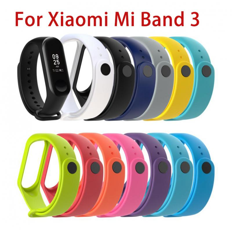 Silicone Strap For Xiaomi Mi Band 3 Replaceable Sports Bracelet Multiple Colour Accessor Wristband B