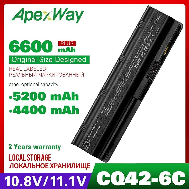 CÉLULAS 11.1V Bateria para Compa 6 Presario CQ42 CQ56 CQ62 Para HP Pavilion MU06 DM4 DM4T DV3 DV7 G4 G6 G7 G62 593553-001 HSTNN-UBOW