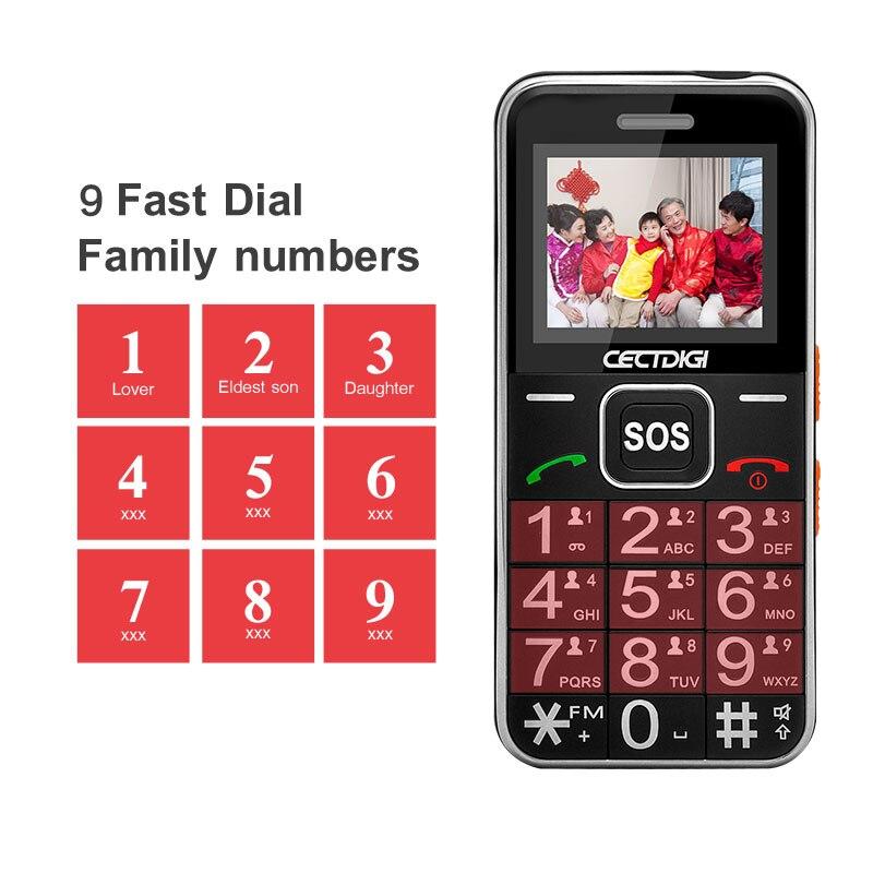 هاتف محمول كبار السن هاتف محمول روسي 2G GSM بلوتوث المزدوج سيم بطاقة SOS زر قوي الشعلة FM هواتف محمولة رخيصة T88