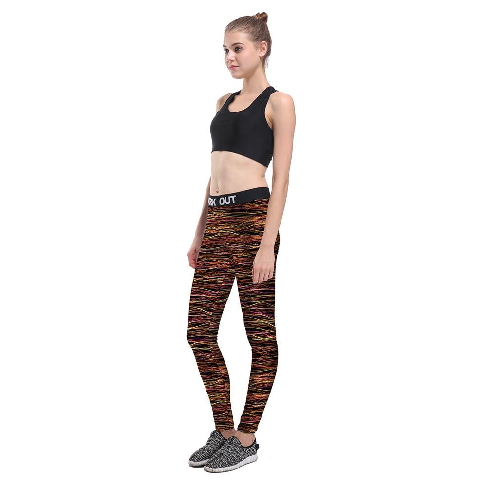 2021 factory wholesale women's foreign trade new products sports pants multi-color women's waist sports cropped pants ladies yog